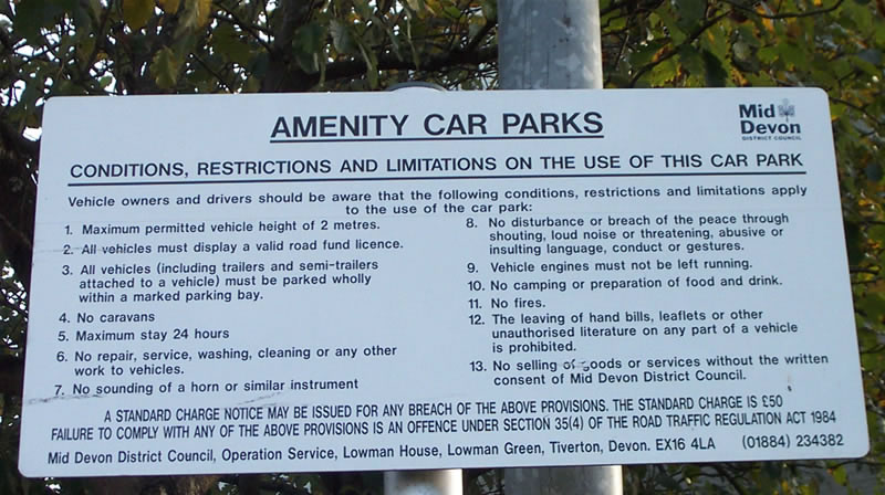 Amenity Car Park Cullompton