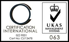 Registered member of Certification International to  ISO 9001:2008.